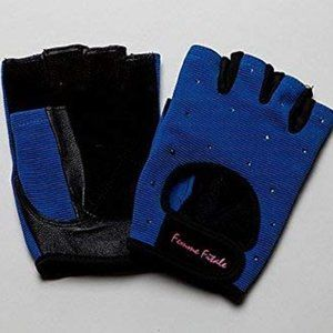 WOMEN'S FITNESS WORKOUT GLOVES SWAROVSKI CRYSTALS